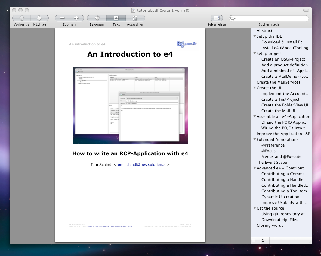 eclipse rcp tutorial pdf