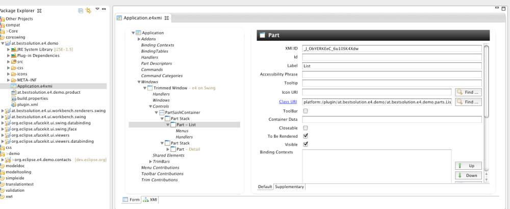 e4 - Use Eclipse 4.1 Application Platform but not SWT (2/2)