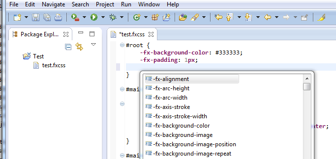 Using Xtext to create JavaFX-CSS Editor | Tomsondev Blog