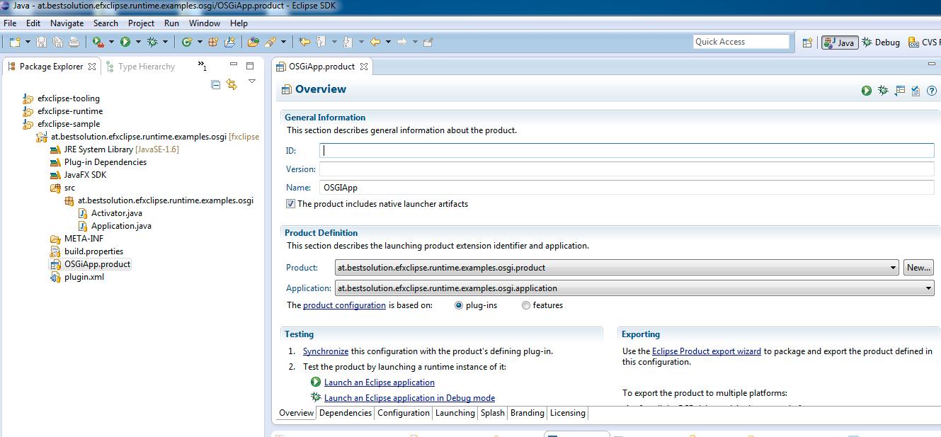 JavaFX 2 0 and OSGi (Equinox) | Tomsondev Blog