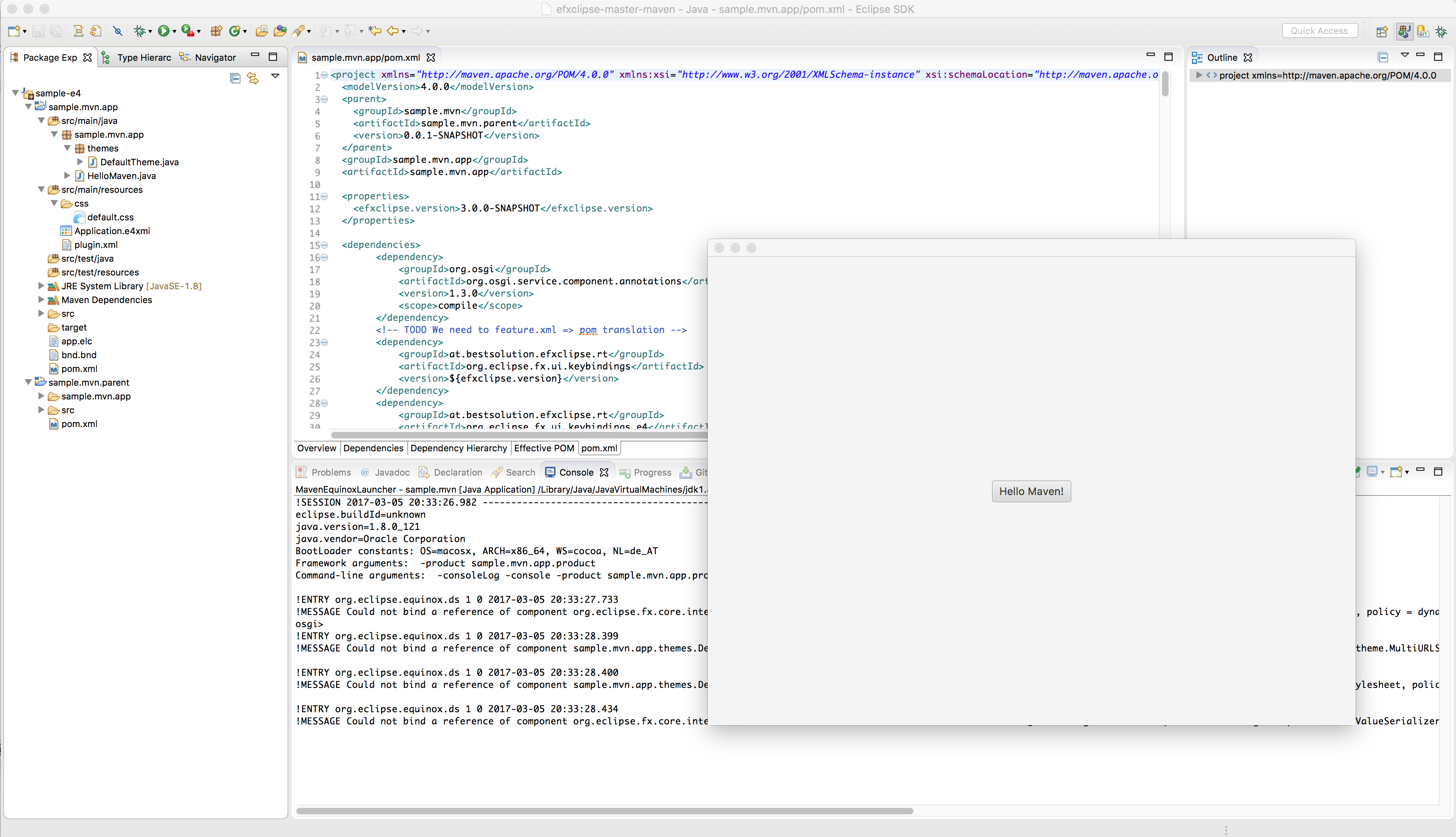 e4 on JavaFX with the bnd-maven-plugin (with VS Code